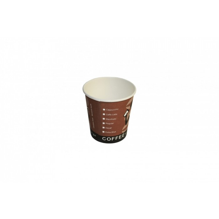 "US-Coffee-Cup - To Go Kaffeebecher / Espressobecher aus Pappe - ""Coffee Grabbers"" - 100ml / 4oz"